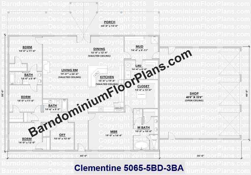 Barndominiumfloorplans
