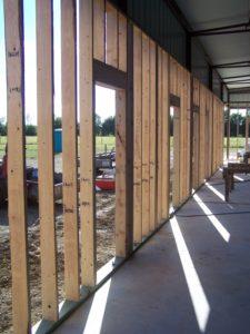 Barndominium 2x6 framed exterior wall