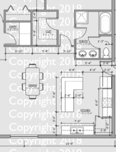 Barndominium Floor Plan Example dimensions on plan