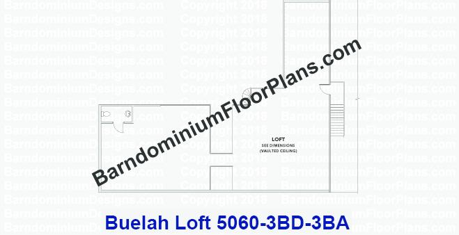 4 bedroom 3 bath Barndominium floor plan with garage - Blaze