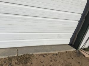 Barndominium OH door with out recessed edge