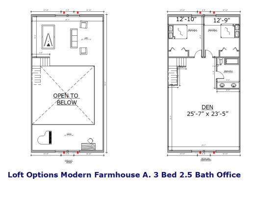 Studio Barndominium Floor Plan 1 Bedroom 1 Bath Flynn
