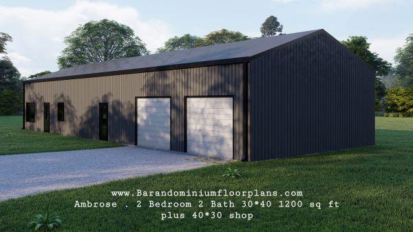 ambrose-barndominium-30x40-1200-sq-ft-floor-plan-2bed-2bath-with-shop