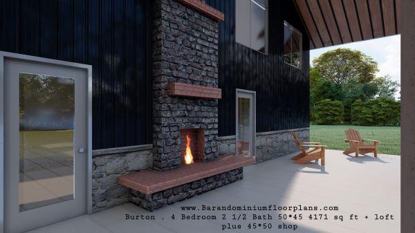Burton-Barndominium-4-Bed–2.5-Bath–4171-sq-ft-fireplace