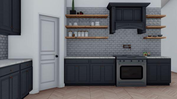 clementine barndominium 3d render interior kitchen