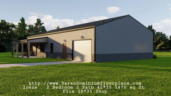 Irene-Barndominium-3d-render-2-bed-2-bath-1470-sq-ft-Floor-Plan