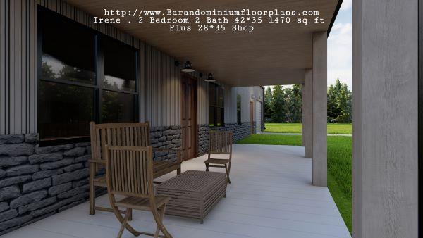 : Irene-Barndominium-2-bed-2-bath-1470-sq-ft-Floor-Plan-Porch
