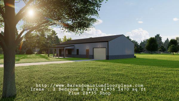 Irene-Barndominium-2-bed-2-bath-1470-sq-ft-Floor-Plan-with-Mudroom-plus-Shop