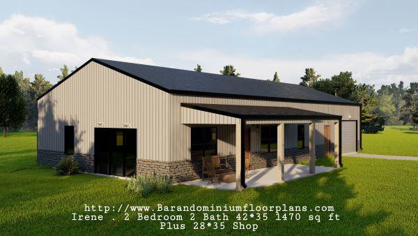 Irene-Barndominium-Front-Porch-2-bed-2-bath-1470-sq-ft-Floor-Plan