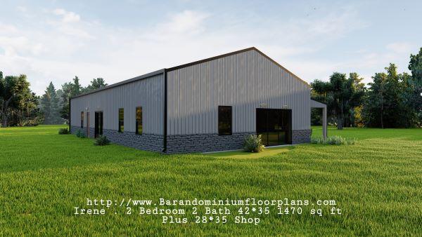 Irene-Barndominium-Sideview-2-bed-2-bath-1470-sq-ft-Floor-Plan