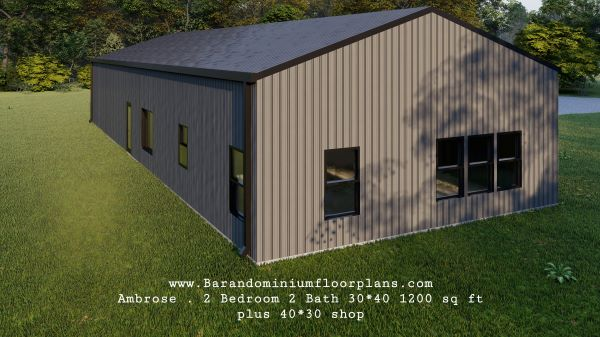ambrose-barndominium-1200-sq-ft-floor-plan-2bed-2bath-with-laundry-plus-shop