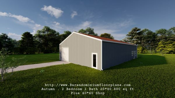 autumn-barndominium-20x40-2bed-1bath-with-shop