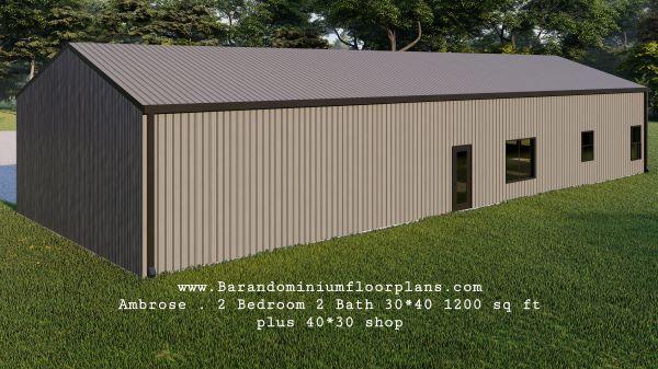 ambrose-barndominium-1200-sq-ft-floor-plan-2bed-2bath-backview