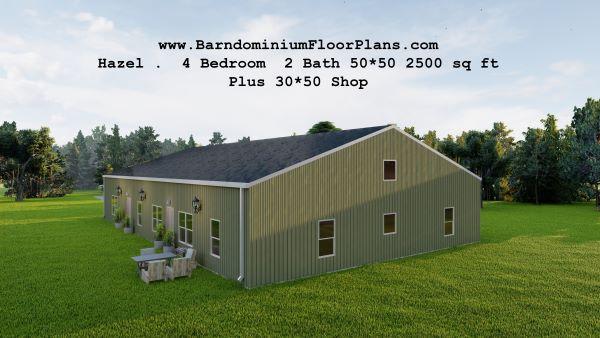 hazel-barndominium-topview-2500-sq-ft-floor-plan-4bed-2bath-with-shop