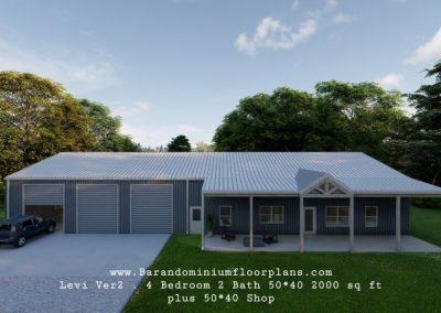 evi-version-2-3d-rendering-4Bed-2Bath–2000-sq-ft-floor-plan-plus-shop