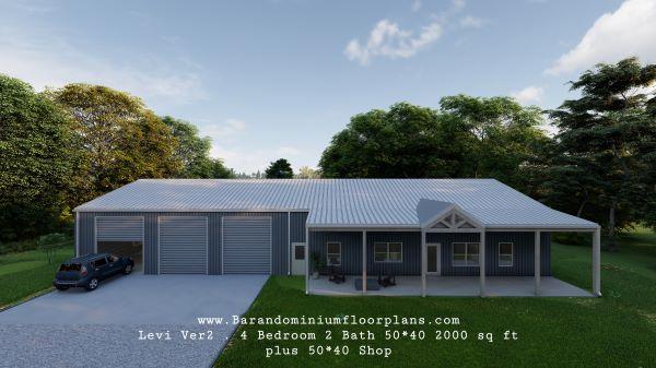 levi version2 3d rendering plus shop 2000 sq. ft Floor plan