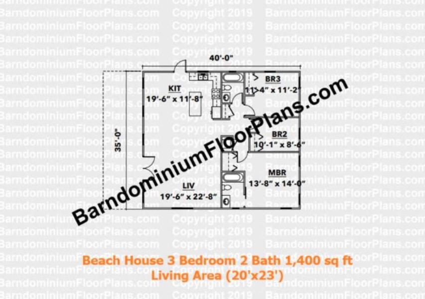 beach house 1400 sq ft floor plan